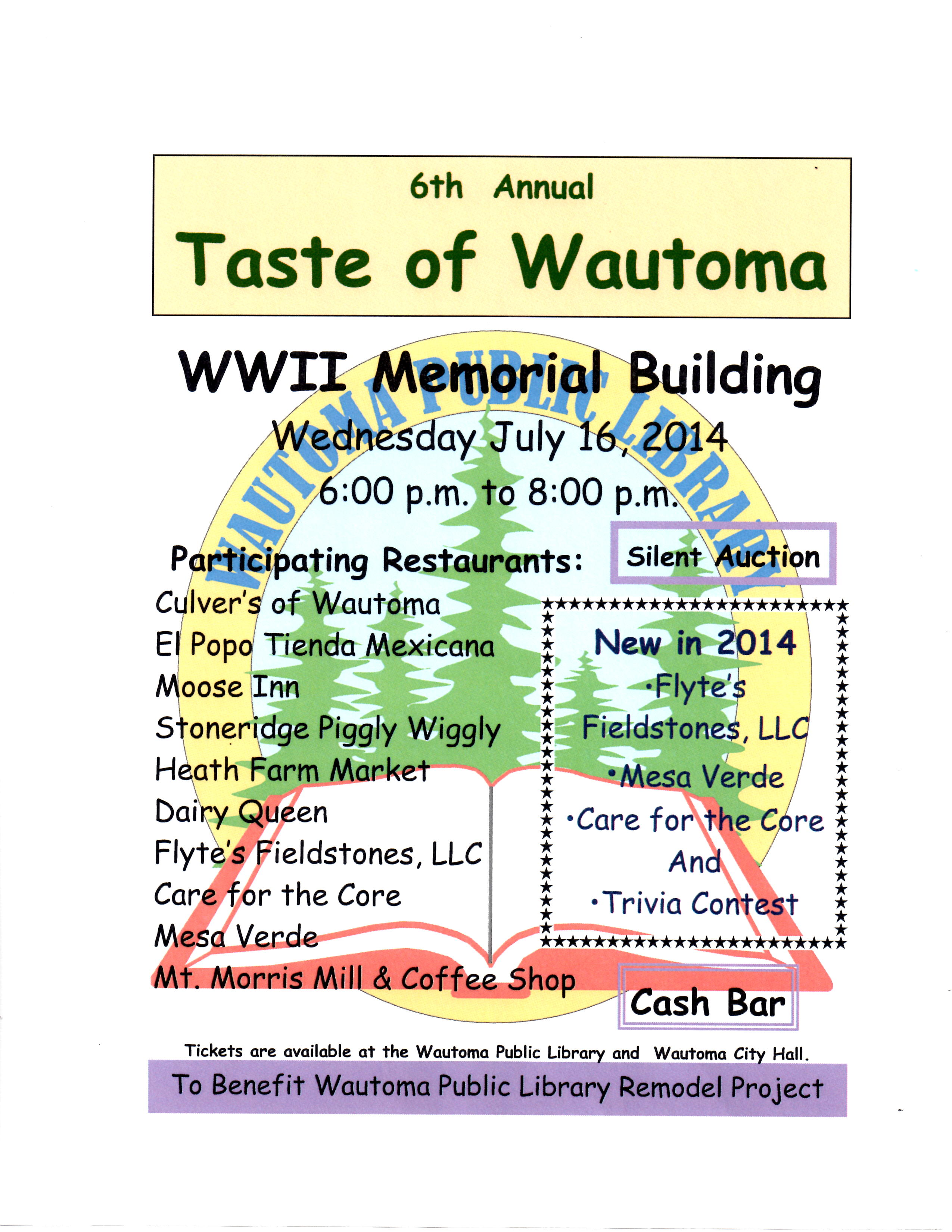 Updated Taste of Wautoma 2014 picture